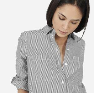 Everlane Striped Cotton Poplin Shirt Dress Sz 4